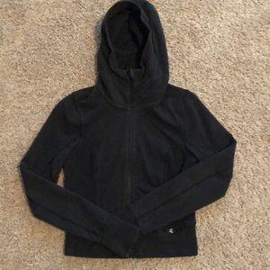 Black Lululemon cropped hoodie with zipper